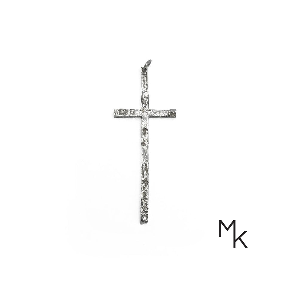 Cross Necklace 70 / Pure Silver - Thin Necklace