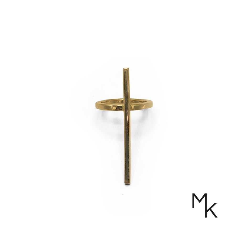 Cross Ring 13 / 18K Gold Ring