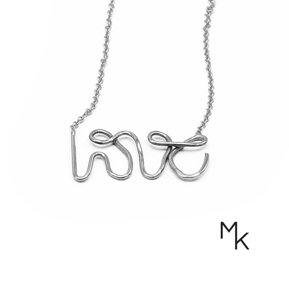 Love Necklace 42 / Pure Silver Necklaces