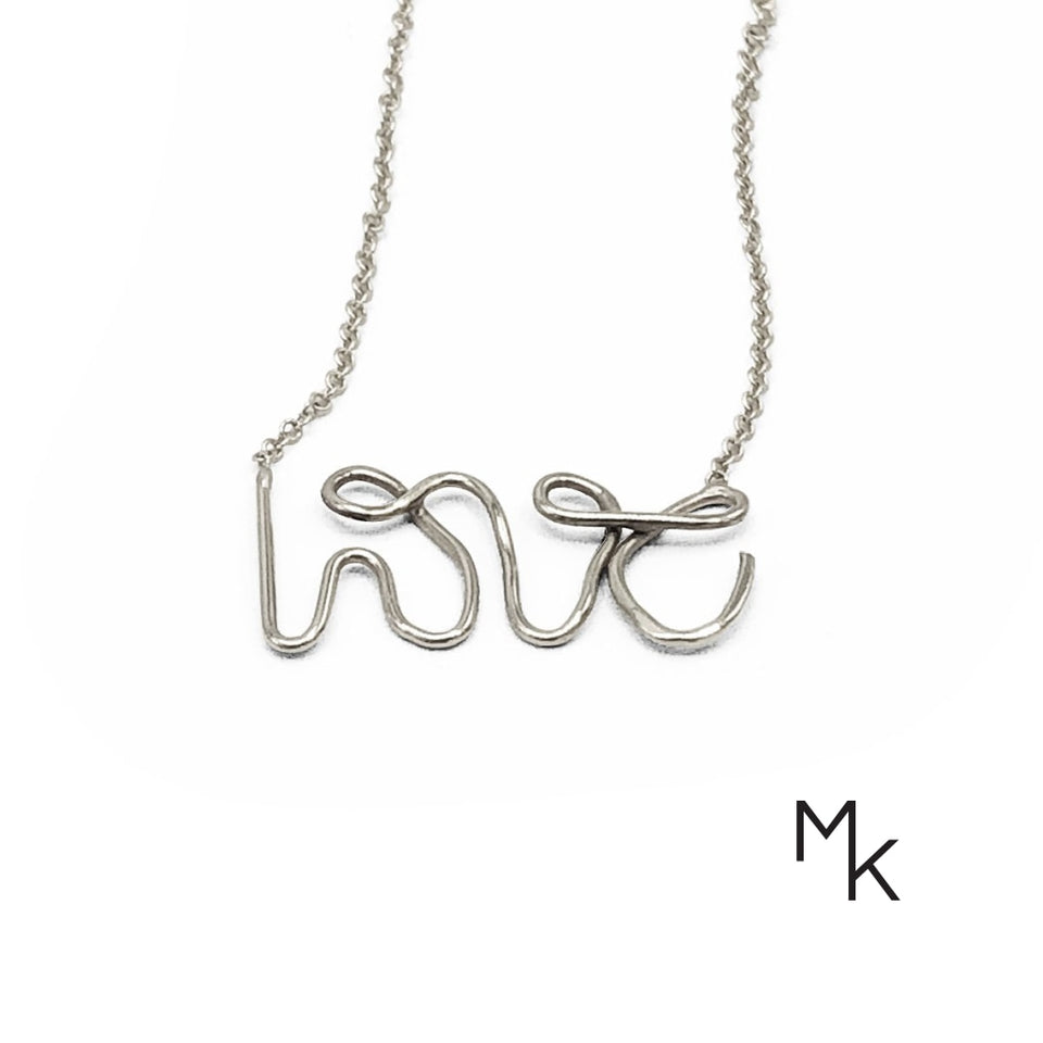 Love Necklace 42 / White Gold Necklaces