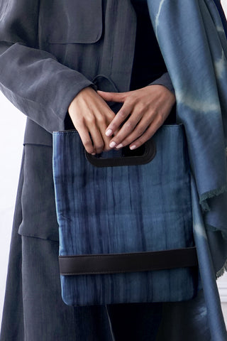 SILK CLUTCH AND CROSSBODY | Indigo