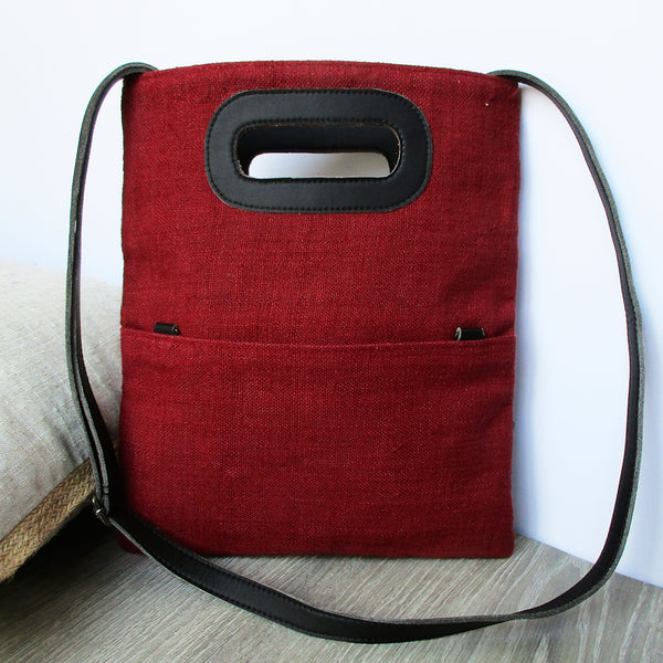 CLUTCH & CROSS BODY BAG | Dark Red