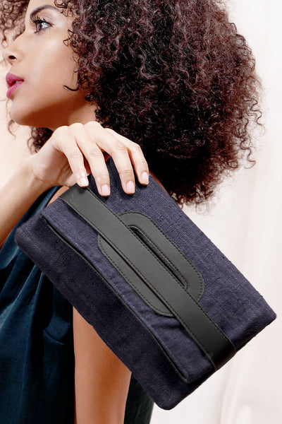 Clutch and Cross Body Bag - Navy