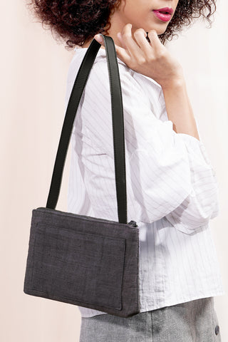COMPACT SHOULDER BAG | Charcoal