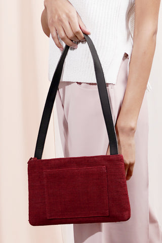 COMPACT SHOULDER BAG | Dark Red