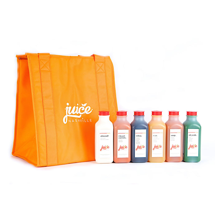 3 day 'the cleanse' kit with tote. - juice. Nashville