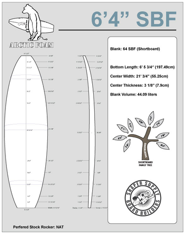 Arctic Foam 6'4 SBF - Shaper Supply