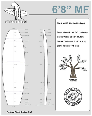 Arctic Foam 6'8 MF - Shaper Supply