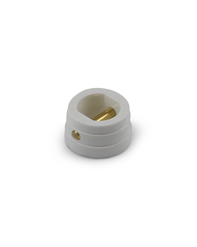 Small Leash Plug - White