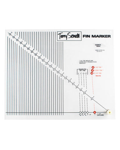 Terry Senate Fin Marker - Shaper Supply