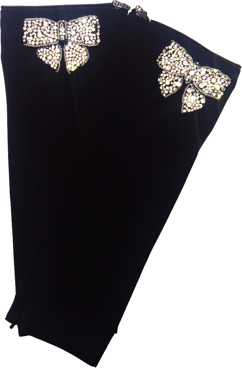 Black Crystal Bow Sleeve