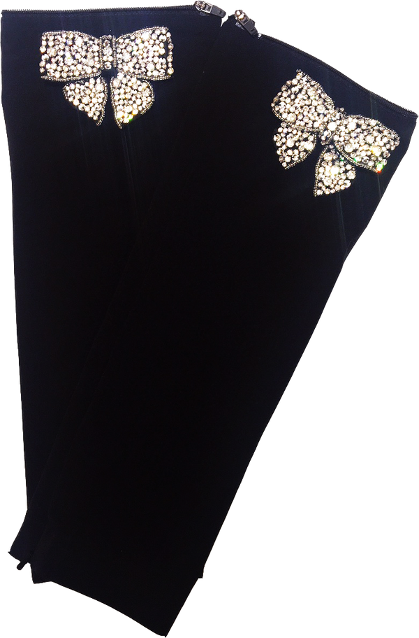 Black Crystal Bow Sleeves
