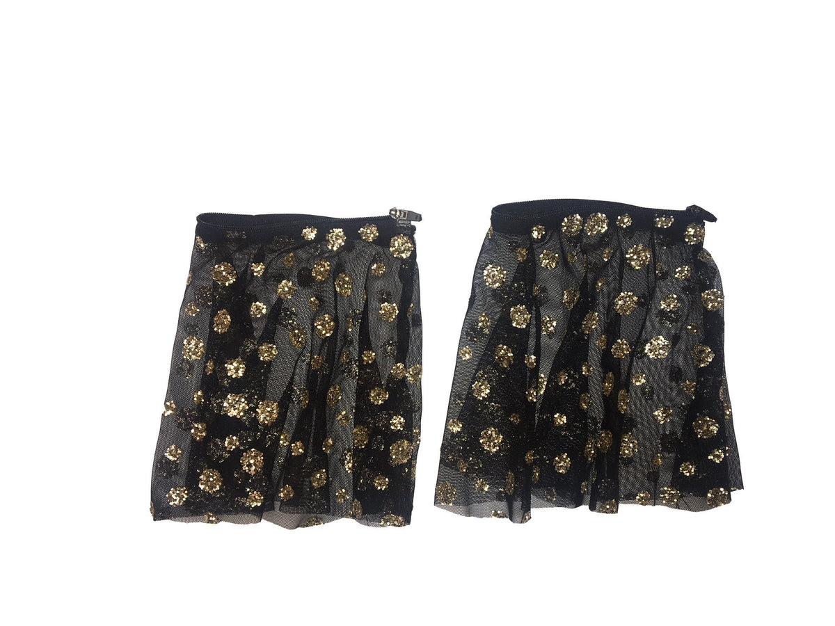 Black and Gold Glitter Sleeves