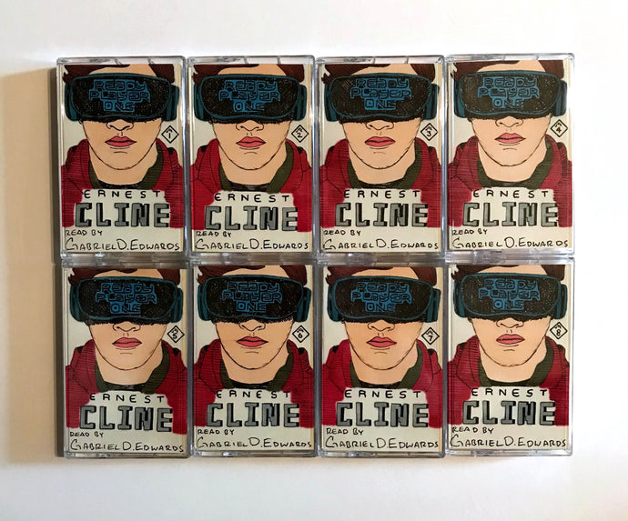 READY PLAYER ONE BY ERNEST CLINE SELLS<br>Audiobook on Cassette with Original Drawings of Sleeve