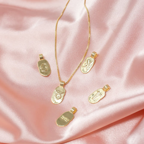 Image of Mini Zodiak Plate Necklace