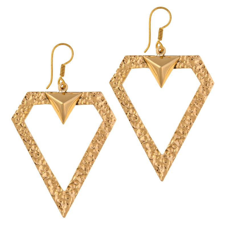 Double Ve Earrings