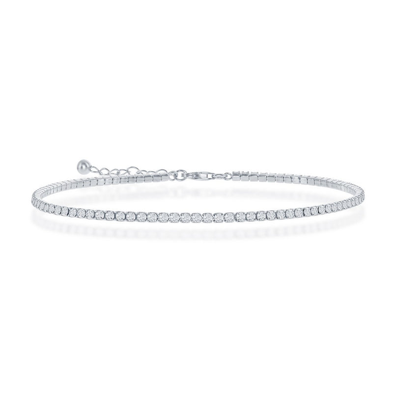 Silver Tennis Anklet