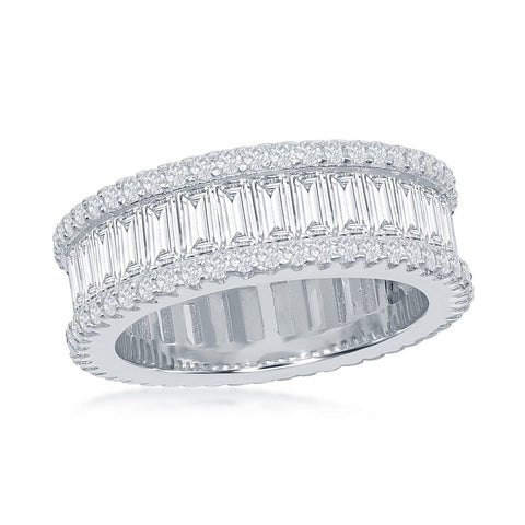 Silver Baguette Ring