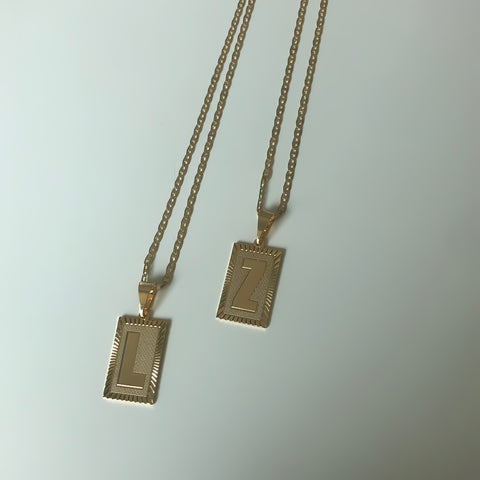 Image of Roman Initial Necklace