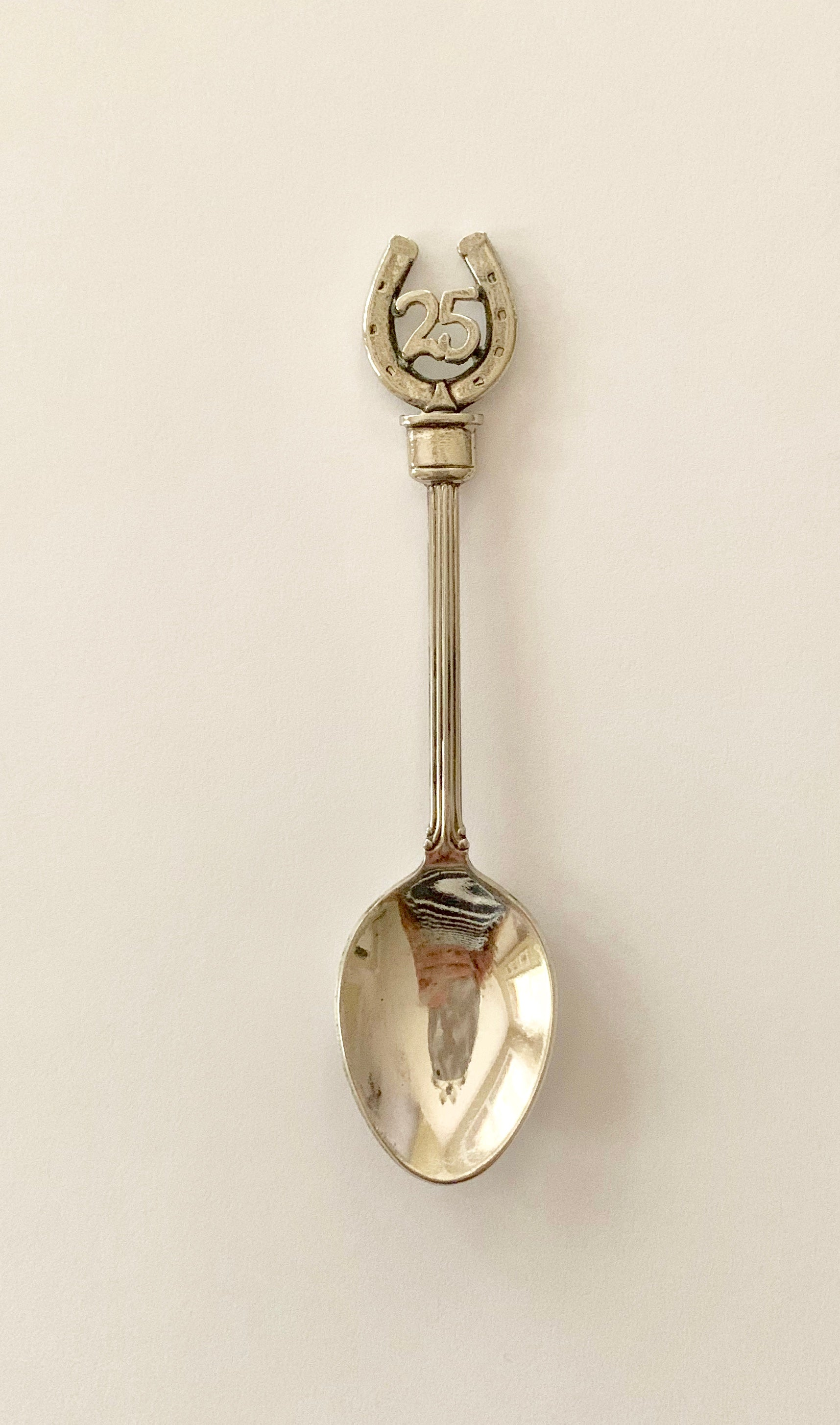 Vintage 25th Anniversary Horseshoe Spoon- Wales Association Pewter Works