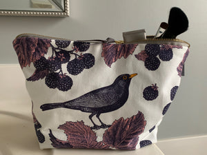 Thornback & Peel Cosmetic Bag-  Blackbird and Bramble