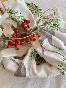 Mistletoe & Stag Tea Towel- Back in Stock Now!!