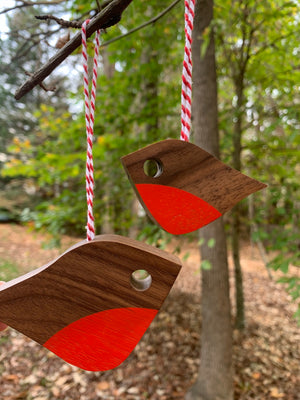 Christmas Robin Ornament, large