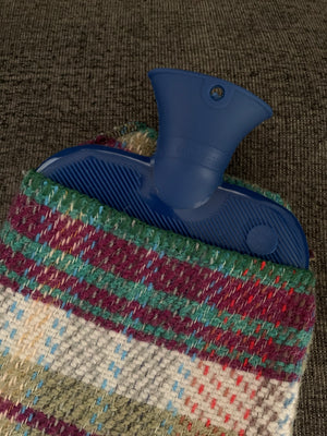 Hot Water Bottle- Multi-color wool