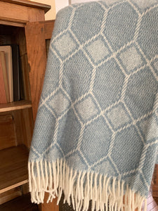 Tweedmill Pure New Wool Churchpane Throw Blanket- Petrol Blue