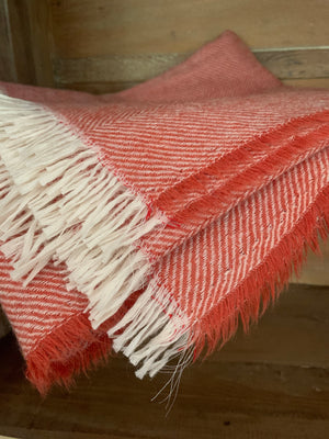 Tweedmill Lightweight Herringbone Throw- Pumpkin