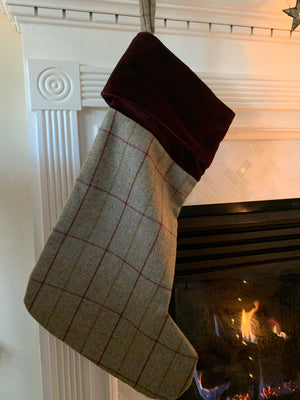 Olive Tweed Christmas Stocking by Tweedmill