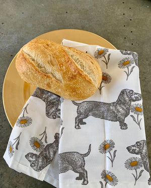 Dog and Daisy Tea Towel by Thornback & Peel