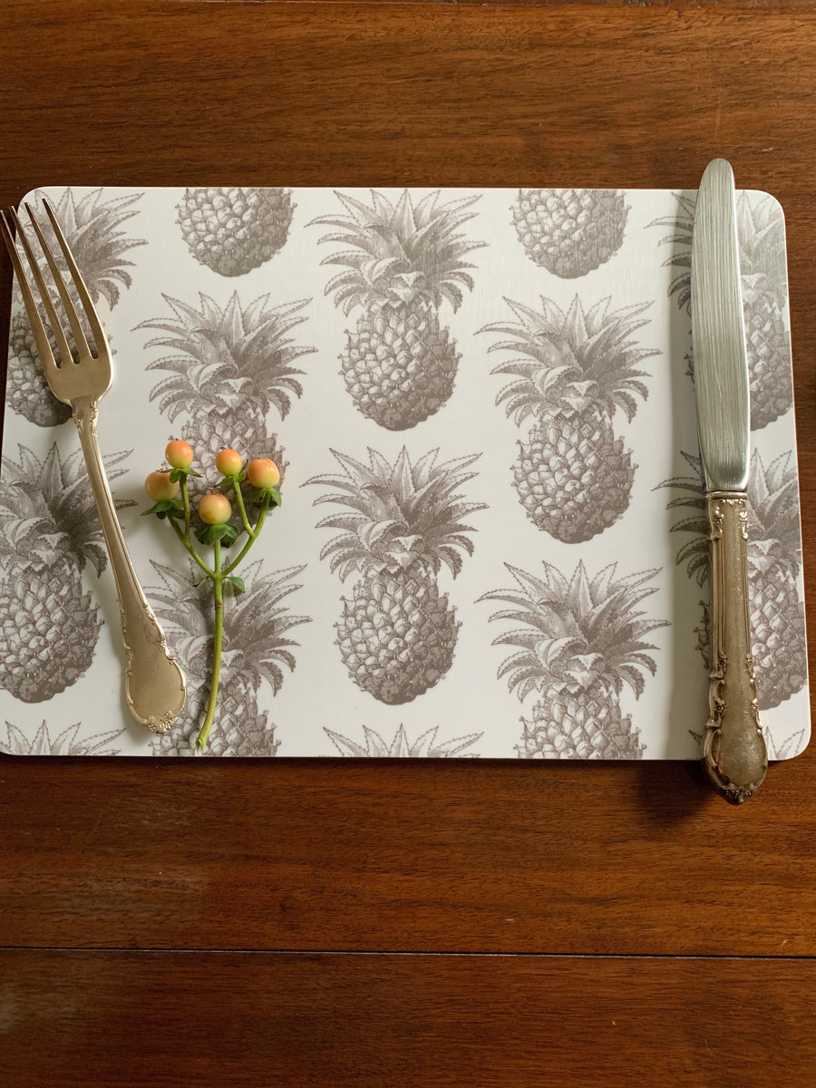 Thornback & Peel Pineapple Hard Placemat