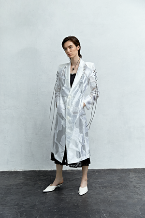 Air Layered Jacquard Coat