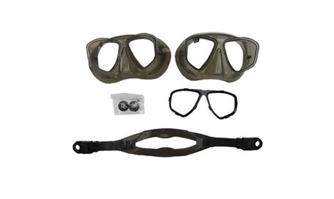 Model 460 - Underwater Mask Part Kit - Black Skirt