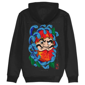 Daruma Doll Pull Over Hoodie-Clothing-Kitsune Clothing UK Ltd
