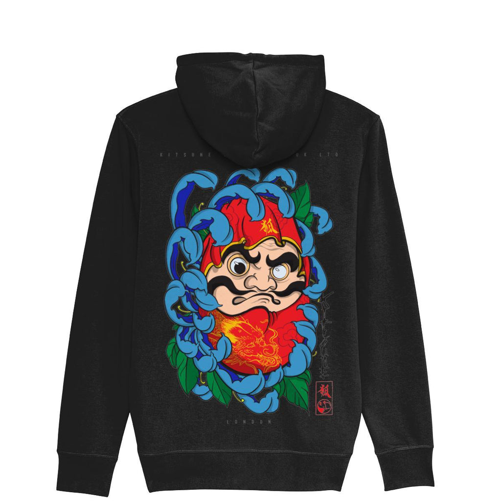 Daruma Doll ZipUp Hoodie-Clothing-Kitsune Clothing UK Ltd