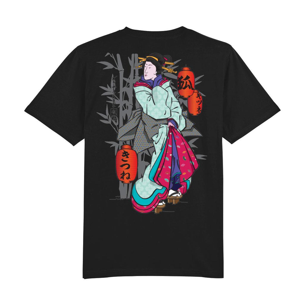 Geisha Back Print-Clothing-Kitsune Clothing UK Ltd