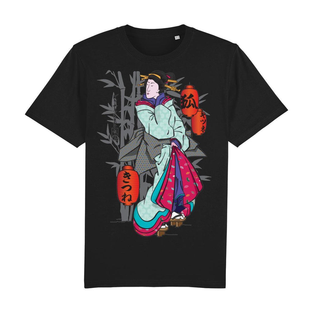 Geisha Front Print-Clothing-Kitsune Clothing UK Ltd