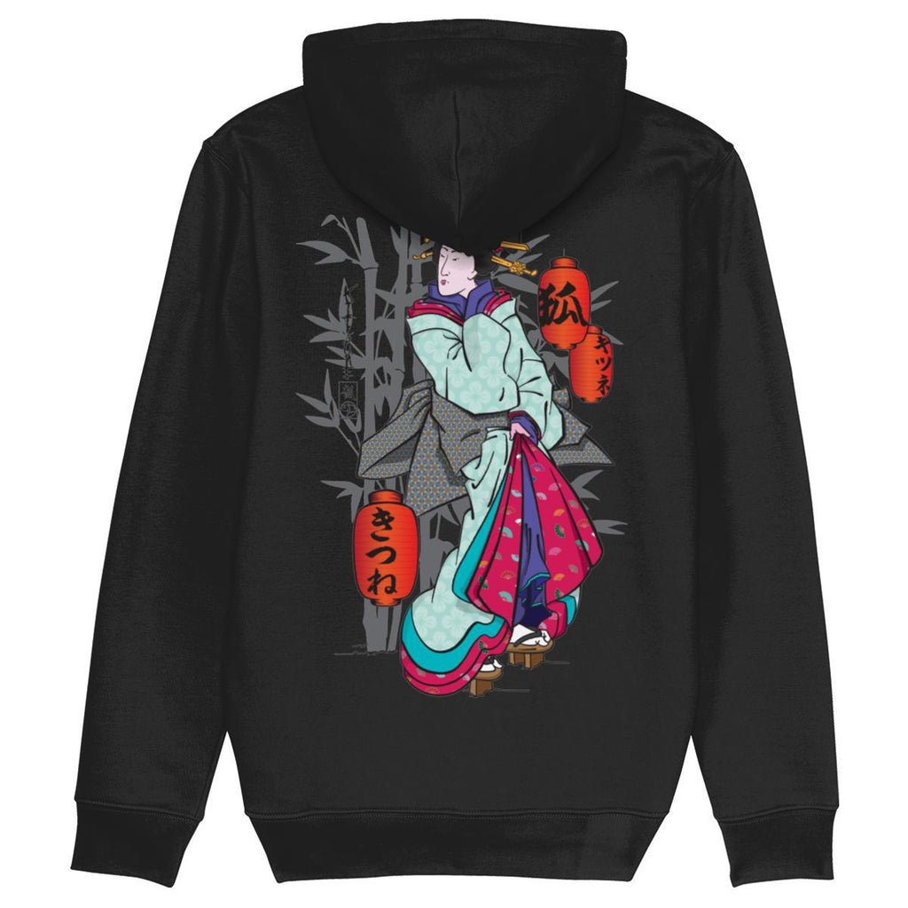 Geisha Pull Over Hoodie-Clothing-Kitsune Clothing UK Ltd