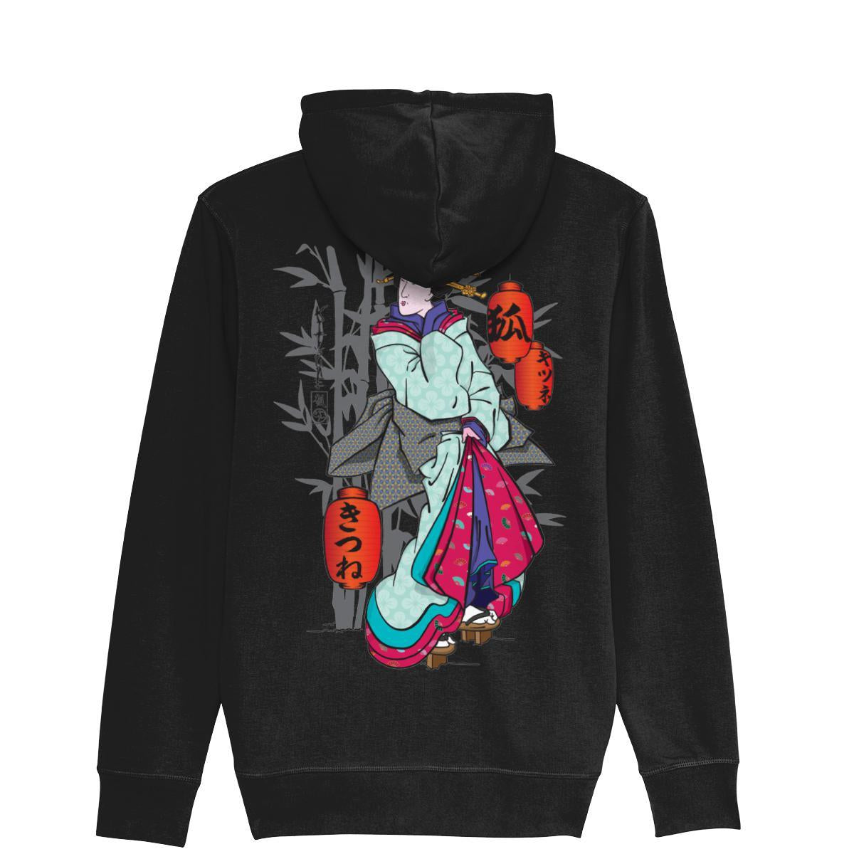 Geisha ZipUp Hoodie-Clothing-Kitsune Clothing UK Ltd