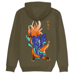 Kimono Kitsune Pull Over Hoodie-Clothing-Kitsune Clothing UK Ltd
