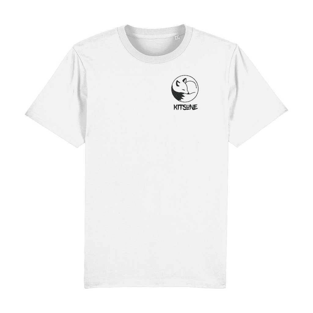 Kitsune Logo Embroidered T-Shirt-Clothing-Kitsune Clothing UK Ltd