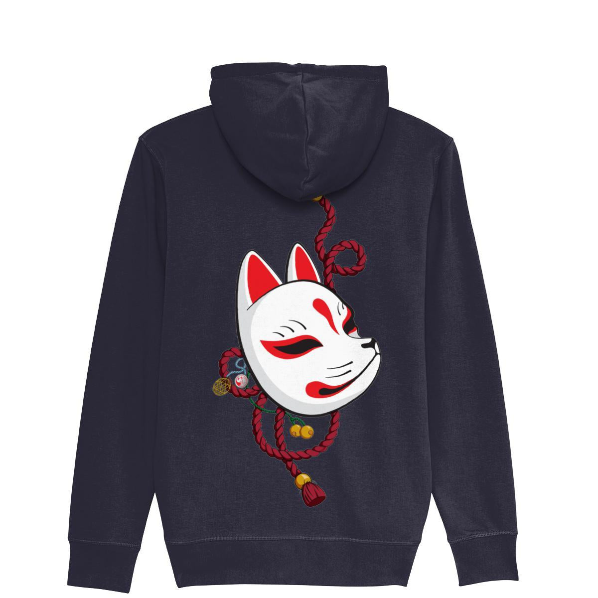 Kitsune Mask ZipUp Hoodie-Clothing-Kitsune Clothing UK Ltd