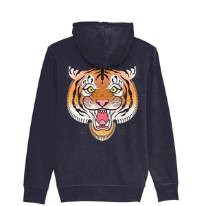 Tiger Head ZipUp Hoodie-Clothing-Kitsune Clothing UK Ltd
