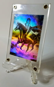 The Art of Curves - Todd Borenstein - Autographed Hologram - Girl on Horse at the Ocean