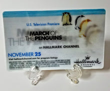 Load image into Gallery viewer, March of the Penguins / The Christmas Card - Hallmark Channel - Oversized 3x5 Lenticular Card - Movie Promo Card