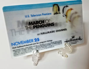 March of the Penguins / The Christmas Card - Hallmark Channel - Oversized 3x5 Lenticular Card - Movie Promo Card