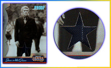 Load image into Gallery viewer, Americana - Series 2 - Steve McQueen Material (Pinstripe Suit) Silver Foil Proof Card #32/50
