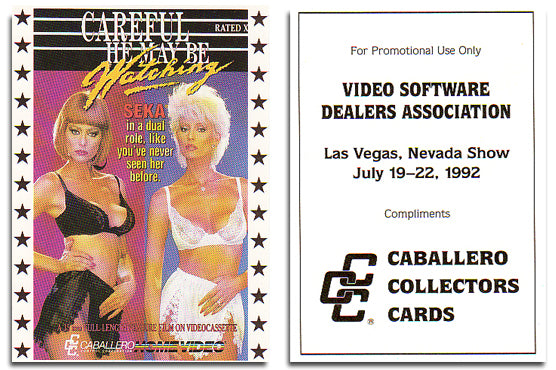 Caballero Collector Cards - Video Software Dealers  Association -  Promo Card - Seka